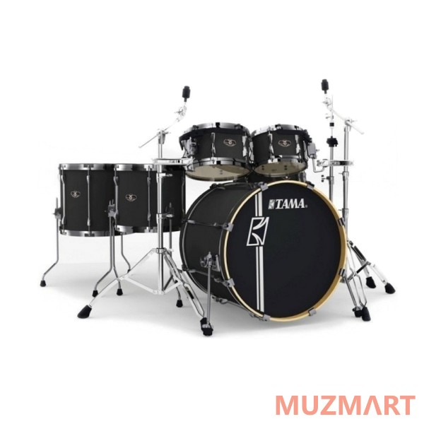 Ударная установка из 6 барабанов Tama ML62HZBNS-FBK SUPERSTAR HYPER-DRIVE MAPLE CUSTOM FLAT BLACK